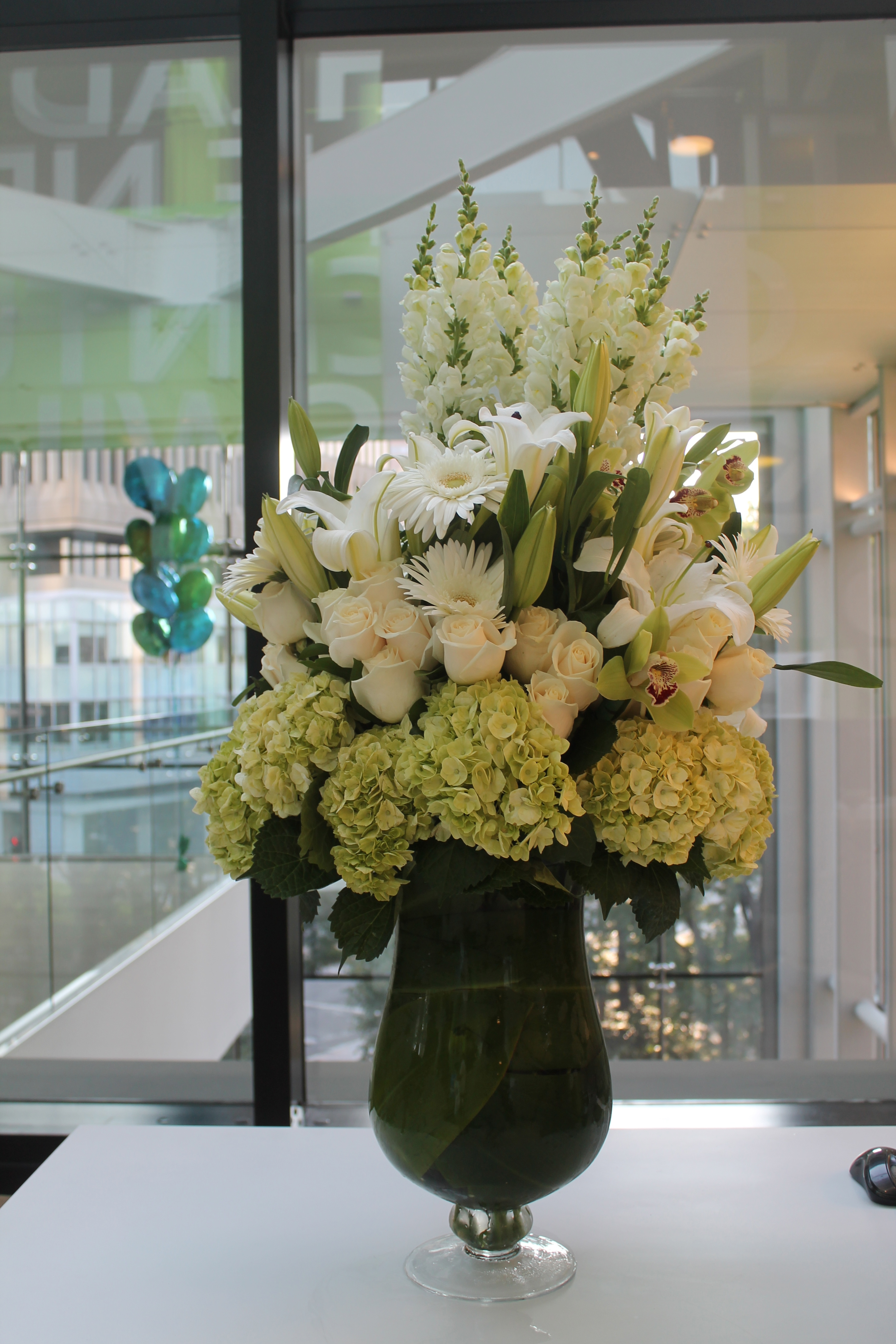 office floral arrangements late trend hotel lobby interiors flower extralarge arrangement for microsofts new office corporate flowers boston ma central square florist